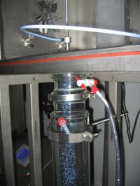 Détail du bain de gélification (thermostatisé)